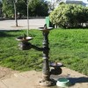 Victorian Style Drinking Fountains for People and Pets in Lafayette Park